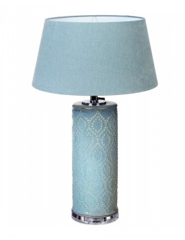 Keramická bledě modrá lampa