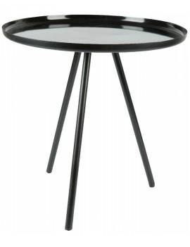 Černý kovový stolek