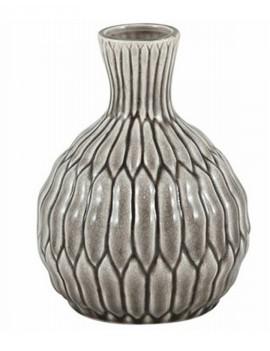 Keramická šedá váza