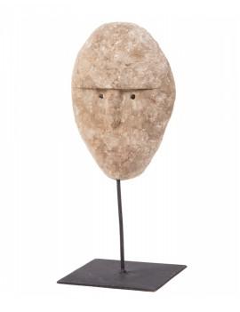 Dřevěná dekorace tvář na stojanu