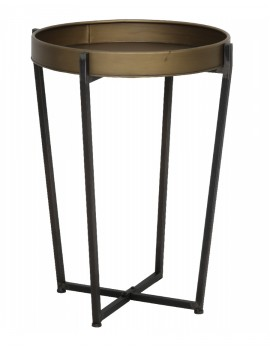 Kovový bronzový stolek Tortola