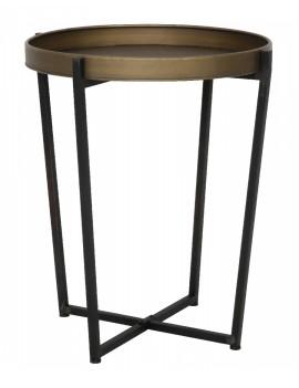 Kovový bronzový stolek Tortola  velký