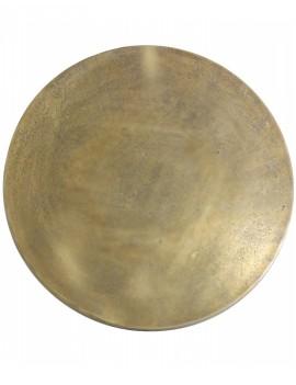 Kulatý kovový stolek Monjas