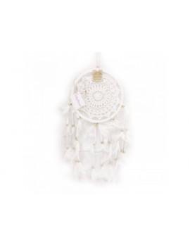 Bílý lapač snů 22 cm