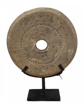 Kamenná dekorace kolo na stojanu velké