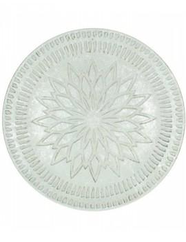 Cementový stříbrný tác