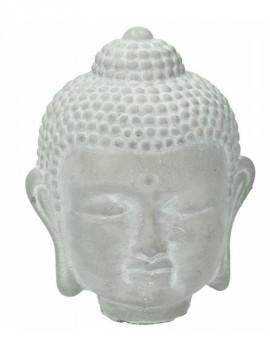 Cementová šedá hlava Buddhy