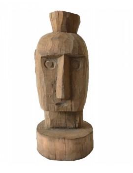 Dřevěná hlava muže