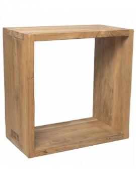 Dekorativní kostka z teakového dřeva