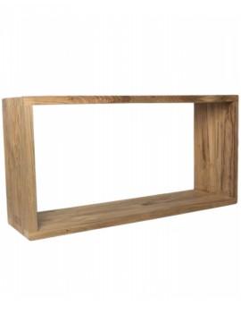 Dekorativní obdélník z teakového dřeva