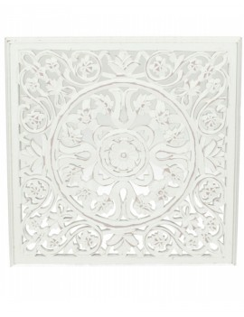 Dekorace - bílý panel s ornamentem