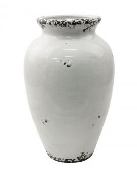 Bílá keramická váza