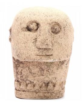 Kamenná hlava muže Sumba 09