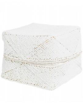 Bílý  košík z korálků