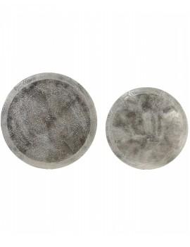 Kovový stříbrný dvojstolek Talca