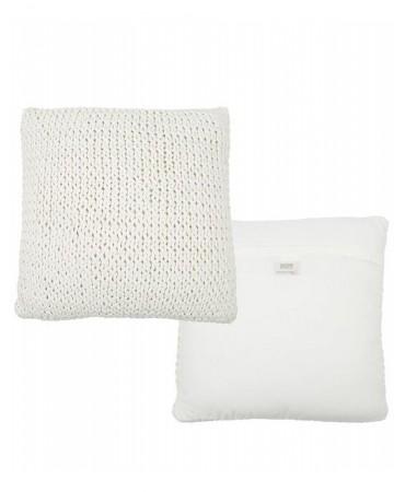 Pletený bílý polštář Colmar