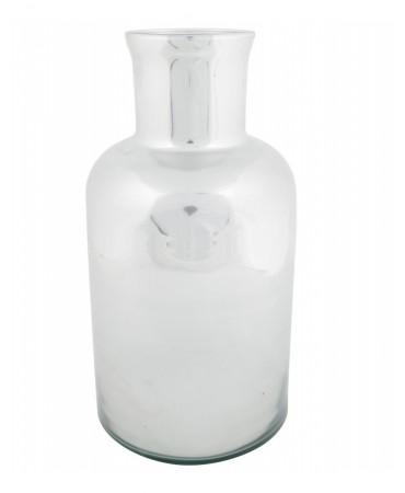 Skleněná stříbrná váza Bayonne