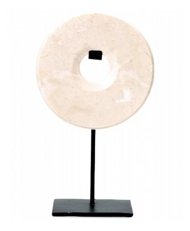Mramorová dekorace kolo na stojanu